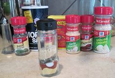 MCCORMICK'S MEATLOAF SEASONING MIX  2 tsp. dried mustard   2 tsp. paprika   1 1/2 tsp. salt   1 1/2 tsp. dried thyme   1 1/2 tsp. basil   1 tsp. black pepper   1 tsp. garlic powder   1 tsp. onion powder   Combine dry spices and seal in ziploc or vacuum seal bag (or jar). Measure all into a ziploc bag, seal & shake to combine. Pour into a spice jar or bottle.
