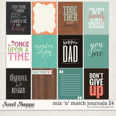 Mix and Match Journals 24 http://www.sweetshoppedesigns.com/sweetshoppe/product.php?productid=32198&cat=778&page=2