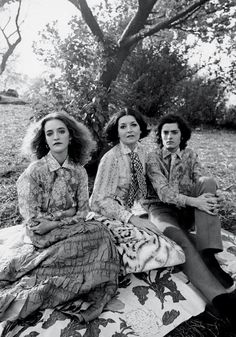 Loulou de la Falaise, her mother Maxime and her brother Alexis by Maurice…