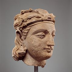 Monumental Bodhisattva Head 5th cent. Pakistan,Gandhara Stucco Metropolitan Museum