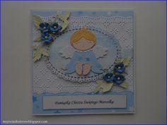 Mój świat kolorów...: Kartki na Chrzest Św. dla chłopców...