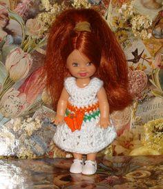 Handmade Crochet Dress For Kelly Barbie number  729
