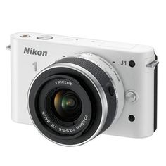 Nikon 1 J1 Digital Camera with 10-30mm Lens Kit (White)