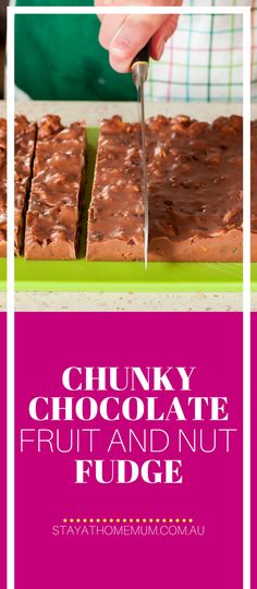 If you're looking for a chocolate hit, this Chunky Chocolate Fruit And Nut Fudge is going to be exactly what you're craving.