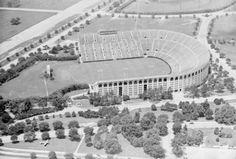LSU Tiger Stadium. 1947.  Fonville Winans.