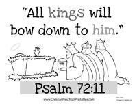 Printable Christmas Bible Verse for Kids