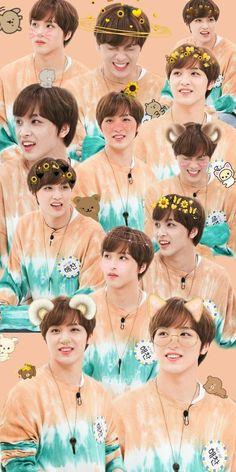 Nct 127 in weekly idol Taeyong, Nct 127, Galaxy Wallpaper, Iphone Wallpaper, Pink Wallpaper, Ntc Dream, Weekly Idol, Images Gif, Nct Life
