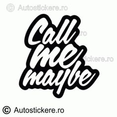 Call me maybe Call Me Maybe, Stickers, Instagram, Decals
