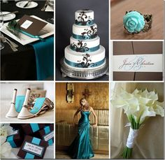 Teal and Chocolate inspiration board, instead of teal and chocolate it could be purple