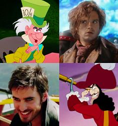The Mad Hatter and Captain Hook