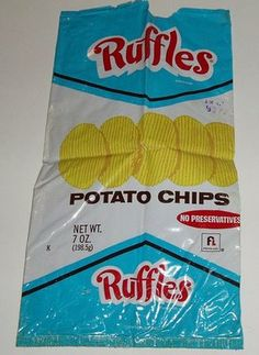 1980's food | We werent really into chips, but I had to show the retro packaging!