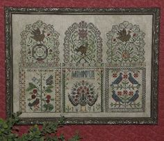 Rosewood Manor has wonderful charts...antique looking! http://www.rosewoodxstitch.com