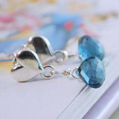 London Blue Topaz Earrings Child Children Girl by myfirstjewellery
