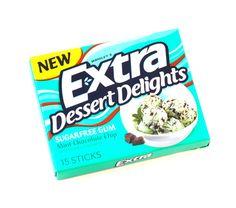 Mint choco chip gum for appetite suppressant