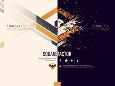 Ideas & Inspirations für Web Designs Website 'http://squarefactor.com/' Schweizer Webdesign http://www.swisswebwork.ch
