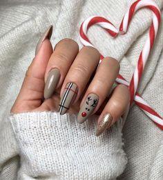 Christmas Gel Nails, Christmas Nail Designs, Christmas Fun, Christmas Carnival, Holiday Nails, Reindeer Christmas, Christmas Design, Chic Nails, Stylish Nails