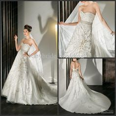 demetrios wedding dresses | Luxury demetrios weddig dress crytal belt beading flower White Wedding ...