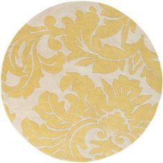 Art of Knot Vlore Area Rug, Yellow