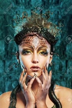 snake queen makeup - Google Search