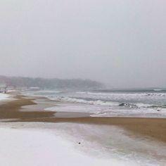 варна, море зимой