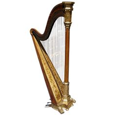 American Birds Eye Maple Gilt Harp | From a unique collection of antique and modern musical instruments at http://www.1stdibs.com/furniture/more-furniture-collectibles/musical-instruments/