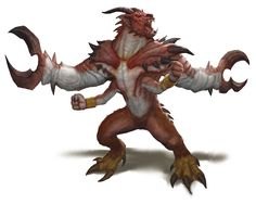Demon, Glabrezu (from the fifth edition D&D Monster Manual). Art by Conceptopolis.