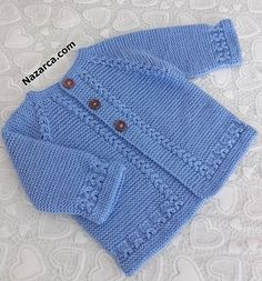 Crochet Baby Sweater Pattern, Baby Boy Knitting Patterns, Baby Sweater Patterns, Knitted Baby Cardigan, Sweater Knitting Patterns, Baby Patterns, Baby Knitting, Baby Pullover Muster, Knit Baby Dress