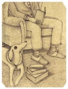 Afternoon Reading / Tarde de lectura (ilustración de Marcos Somà)