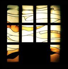 JAPAN / Kahoku ceremony center entrance / by Nabemoto Stained glass
