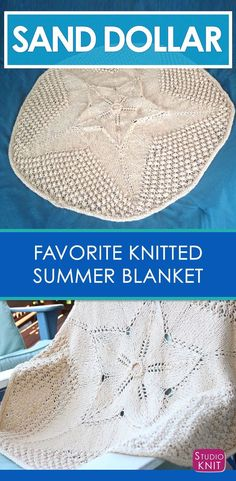 My Favorite Knitted Summer Blanket - Sand Dollar Baby Blanket by Daniel Yuhas via @StudioKnit
