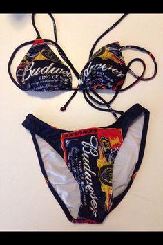 Budweiser Beer Vintage Bikini Bathing Suit by BmoreUnique on Etsy, $175.00