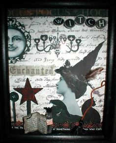 Make your own vintage witch shadowbox