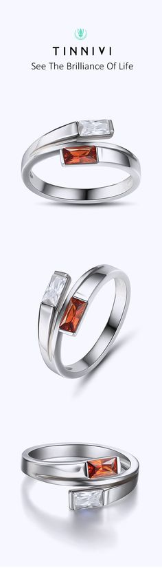 Shop ❤️Emerald Cut Ruby Sterling Silver Cocktail Ring❤️online️, Tinnivi #Jewelry creates quality fine jewelry at gorgeous prices. Shop now! #TinniviJewelry #weddingring #wedding#bride#Ring