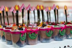 Camping Party tags cups and spoons Set of 12 by FestivaPartyDesign, $10.00