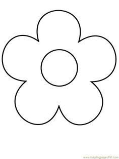 Printable Flowers To Color Flowers Coloring Pages Kids ส อ
