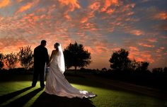 Gotta get this photo for our sunset-themed wedding at the golf course :)
