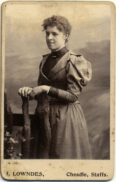 Antique Carte de Visite Photograph of a Lady c. early 1900s.. £3.38, via Etsy.