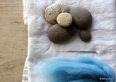 lil fish studios: how to make a felted stone. You can leave as. embroider or bead.