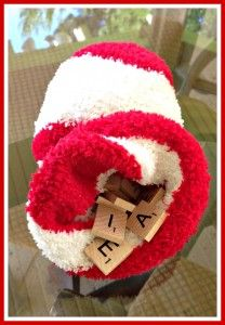 Scrabble sock.jpgUse letters from Scrabble game and have a student pick a letter and say it's name and sound.