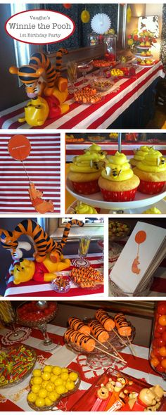 35 Stylish Winnie The Pooh Baby Shower Ideas Tigger And Pooh, Winnie The Pooh Themes, Winnie The Pooh Birthday, Bear Birthday, Baby First Birthday, First Birthday Parties, First Birthdays, Pooh Bear, Birthday Ideas