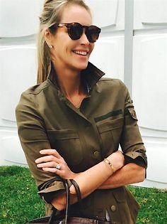 Elle Macpherson (jacket by @veronicabeard)