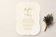 Baby's Breath Wedding Invitations by Laura Hankins at minted.com