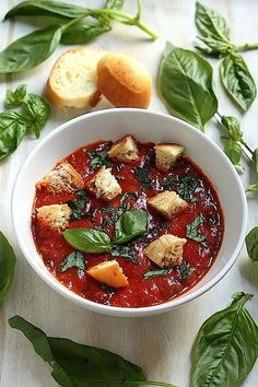 Roasted Tomato Basil Soup | Recipe | Roasted Tomato Basil Soup, Tomato ...