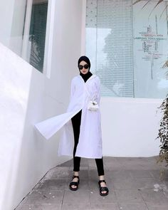 Casual Hijab Outfit, Ootd Hijab, Hijab Dress, Hijab Look, Street Hijab Fashion, Hijab Fashion Inspiration, Instagram, Style, Muslim Fashion