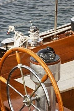 Rudder And Compass On A Wooden Boat Royalty Free Stock Photo, Pictures, Images And Stock Photography. Make A Boat, Build Your Own Boat, Love Boat, Ship Wheel, Boat Wheel, Wood Boats, Sail Away, Set Sail, Small Boats