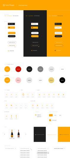 Veuve Clicquot Guideline by Anne Thai Design Guidelines, Brand Guidelines, Web Design, Graphic Design, Veuve Cliquot, Ui Color, Webdesign Inspiration, Wireframe Design, Design Theory