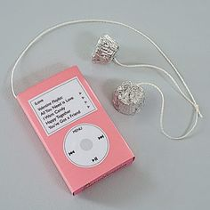 A box of conversation hearts covered to look like an iPod.  I made these for Alexa's V-Day party!