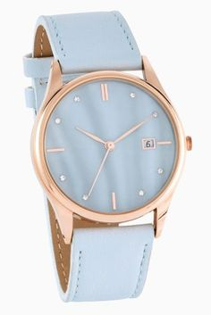 It's hard not to clock watch when you have this on your arm ;) in a pretty pastel blue, this is the perfect way to elevate your accessory collection this summer.