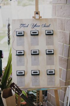 This is a very creative seating chart for a music themed wedding. Very creative!