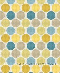 Harlequin Polka Dot Yellow Blue